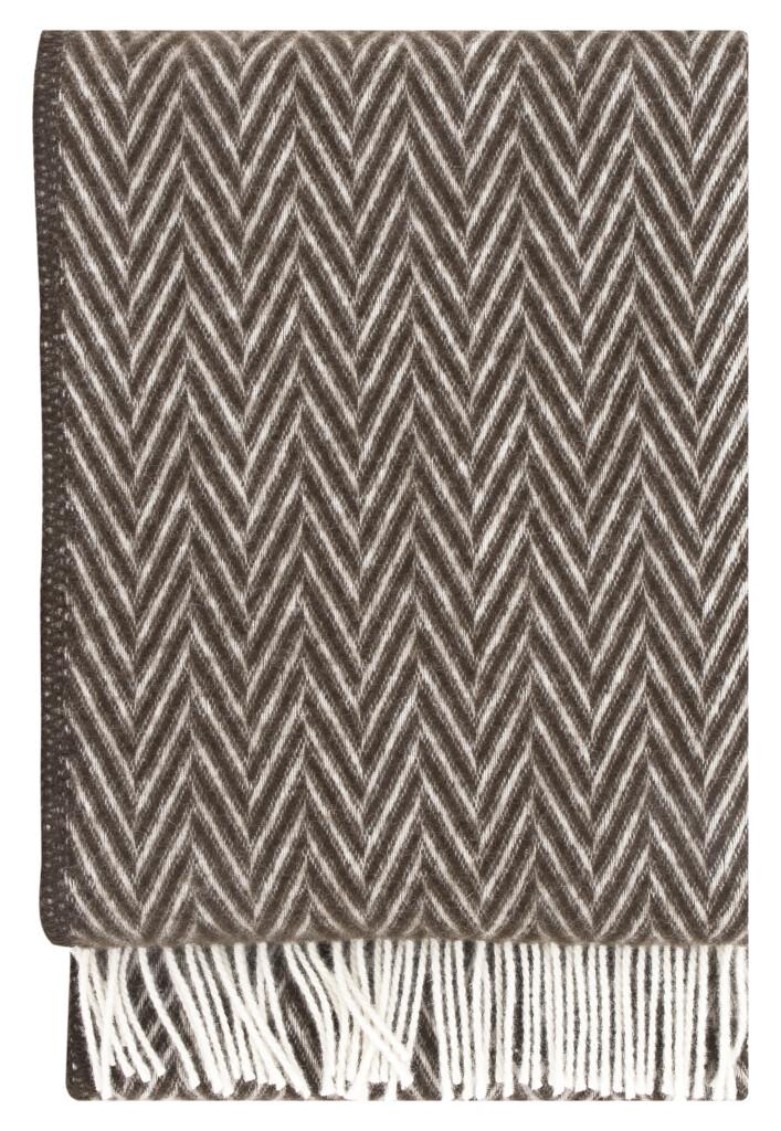Decke Iida braun - weiß von Lapuan Kankurit